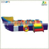 FS-SP-041H customized eco-friendly PVC & EPE & Wood pirate-ship children pool with sea-balls