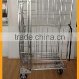 Factory direct sale wire mesh roll containers, foldable storage container standard quality