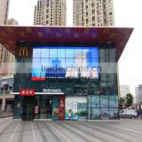 outdoor led display screen billboard , P10 glass transparent led display for retail store digital video screen