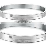 2013 High quality pure steel bangel eplain stainless steel bangle