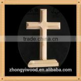 Trade assurance MDF wood craft crosses small wood cross carved wood cross