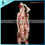 chiffon batik hot sexy young girls beach pareo sarong wrap