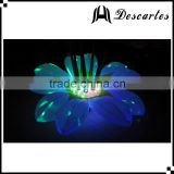 Hanging lighted inflatable curtain flowers, LED inflatable wedding flowers for decoration