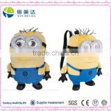 Cute Minions Plush Backpack Bag for kids