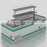 Energy Saving Chest Deep Freezers display case island freezer glass lid Supermaket OEM Factory