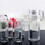 5pcs 7pcs water drinking clear glass drinking set