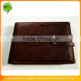 2013 dark brown a5 personalized embossing promotion pull up leather diary with closure for company advertisement