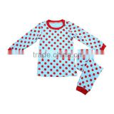 Wholesale children's boutique clothing kid pajamas cotton winter children pajamas kid garment