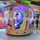 Crown Carousel Funny Children Games Ride Small Coin Operated Musical Carousel