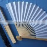 blank Chinese feather bamboo hand fan