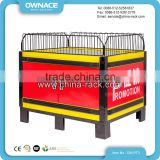 Easy Assembled Supermarket Wire Promotional Display Stand Dump Bin