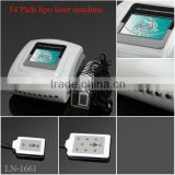factory promotion!!!top sale!!!14 pads lipo cold laser machine