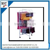 Trolley type multilayer metal wire towel clothes hanging rack/wire/china suppliers/new products/round flower box