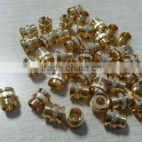 OEM brass factory custom made bolt and screws closed end cap knurled thumb Nonstandard hardware lathe parts