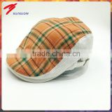 Customized high quality checked cotton ivy cap wholesale