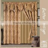Luxury Valance Design Curtains For Living Room In Cheap Price