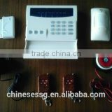 433Mhz wireless alarm system kit with package content: door contact,PIR motion sensor,remote control,wired siren