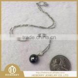 elegant Tahitian black pearl jewelry set with high quality