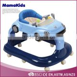 China Hot sales multifunction new car shape 8 wheels baby walker 3 in 1 plastic baby walker with music and toys