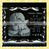 Customized Laser Engraved Crystal Baby Souvenir For Guest Takeaway Gifts