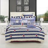 time-limited hot sale america flag duvet cover sheet fitted skirt pillow case /cushion cover 100% cotton bedding
