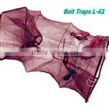 PE net mesh wire stainless steel shrimp trap,free fishing tackle samples