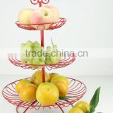 New flexible 2 3layers wire fruit basket/steel decor basket/candy basket