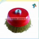 Red brass wire Crimped Wire Steel Wire Cup Brush