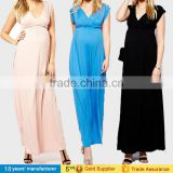 Elegant women long gowns breastfeeding clothing wrap v-neck evening party maternity dresses photography for summer maxi