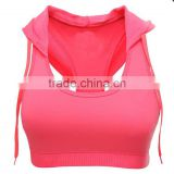 Girls Hooded Padded Sport Bra Professional Running And Fitness Corsets Hot Female Gym Bra New Sexy Push-up Bustiers New Yoga Bra