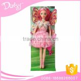 Plastic girl display flying fairy mini real toy barbiee doll