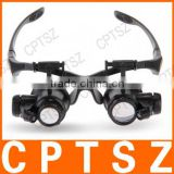 COLEMETER 10X 15X 20X 25X Magnifier Magnifying Eye Glasses Loupe LED Jeweler Watch Repair
