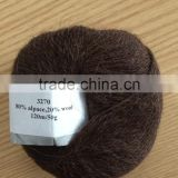 No.3270 80%alpaca 20%wool wholesale good quality for shawl scraft sweater hand knit yarn