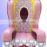 pink inflatable party chair