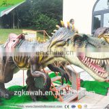 KAWAH Amusement Park Mechanical Animal Rides Rubber Remote Control Dinosaur Rides For Sale