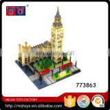 1641pcs building block for Elizabeth Tower Big Ben diamond block for sale