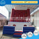 PVC inflatable sports climbing kids inflatable kids rock climbing wall