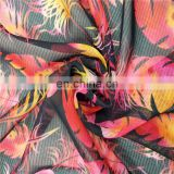 Custom Design High Quality Digital Printing Service on Rayon Elastic Single Jersey Fabric