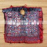 Vintage Bohemian Patch Embroidered Patch- Indian Vintage Embroidery OF Beads Work Neck Yoke