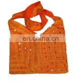 mirror work ethnic shoulder large hobo bag