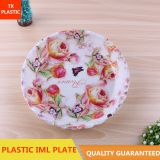 DISPOSABLE IML PLASTIC WAVE EDGE PLATE FOOD PLATE PLASTIC TRAY