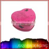 wholesale wedding favor heart shape metal tin box supplier