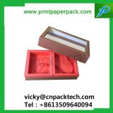 Custom Made High-End Full Set Cosmetic Cardboard Lid and Tray Box Hair Packaging Gift Jewelry Box with PVC Flocking Tray