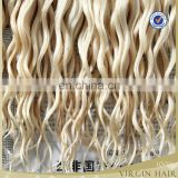 Hot beauty best selling new arrival different types of curly weave remy hair color 613