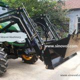Tractor with front loader attachment