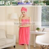 new products on china market microfiber bath towel beach set super absorbent brightly painted Bathrobe with shower cap