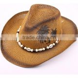 2015 Unisex Top quality mexican sombreros bulk straw cowboy hats mens Straw Beach Hat for sale