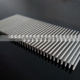High quality bright anodized folded aluminium cooling fin (aluminium fin stock, aluminum fin)