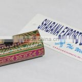 Leather lipstick case printed Indian small boxes
