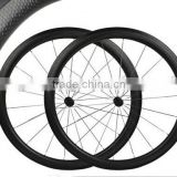 SC58 synergy bike 700c*25mm width china bicycle supplier 58mm clincher dimple surface bicycle wheel chinese carbon wheels